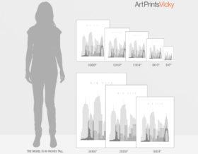 poster size guide ArtPrintsVicky