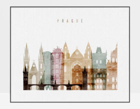 Prague poster watercolor 1 landscape