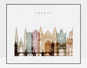 Prague poster watercolor 1 landscape
