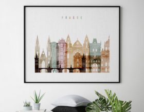 Prague poster watercolor 1 landscape second