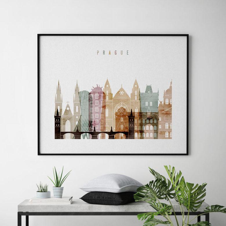 Prague poster watercolor 1 landscape second