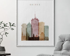 Quebec poster watercolor 1 second