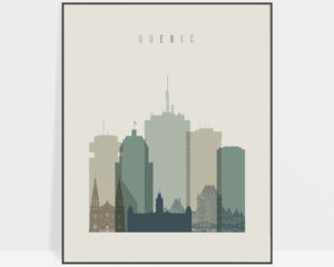 Quebec print skyline earth tones 1