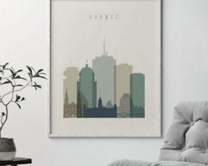 Quebec print skyline earth tones 1 second