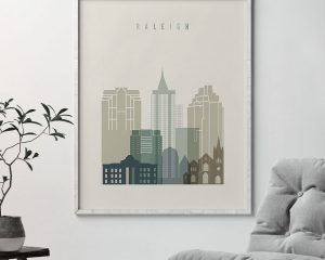 Raleigh print skyline earth tones 1 second
