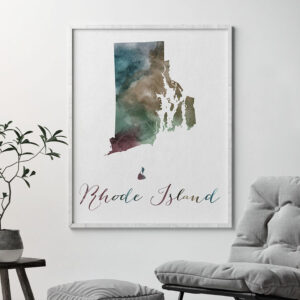 Rhode Island State map print second