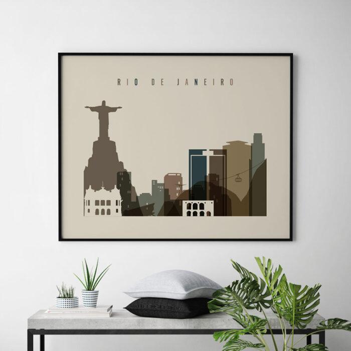 Rio De Janeiro art print landscape earth tones 3 second