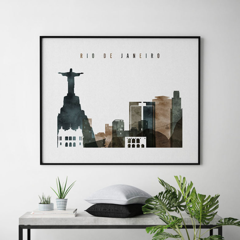Rio De Janeiro poster watercolor 2 landscape second