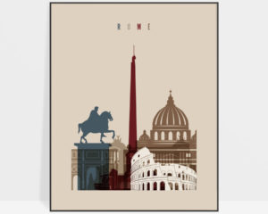 Rome poster earth tones 2
