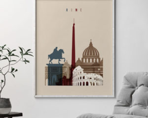 Rome poster earth tones 2 second