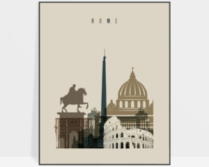 Rome art print earth tones 3