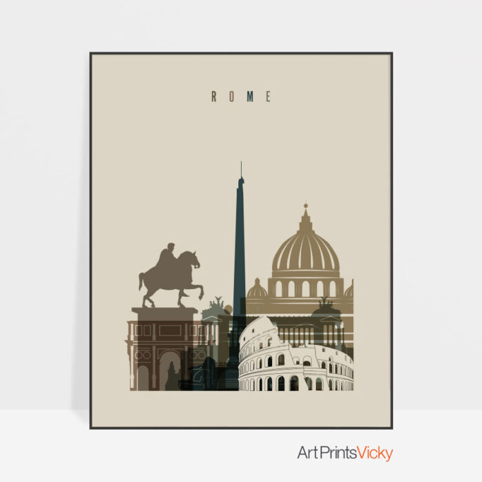 Rome art print earth tones 3
