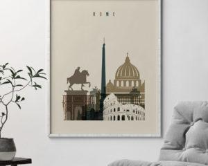 Rome art print earth tones 3 second