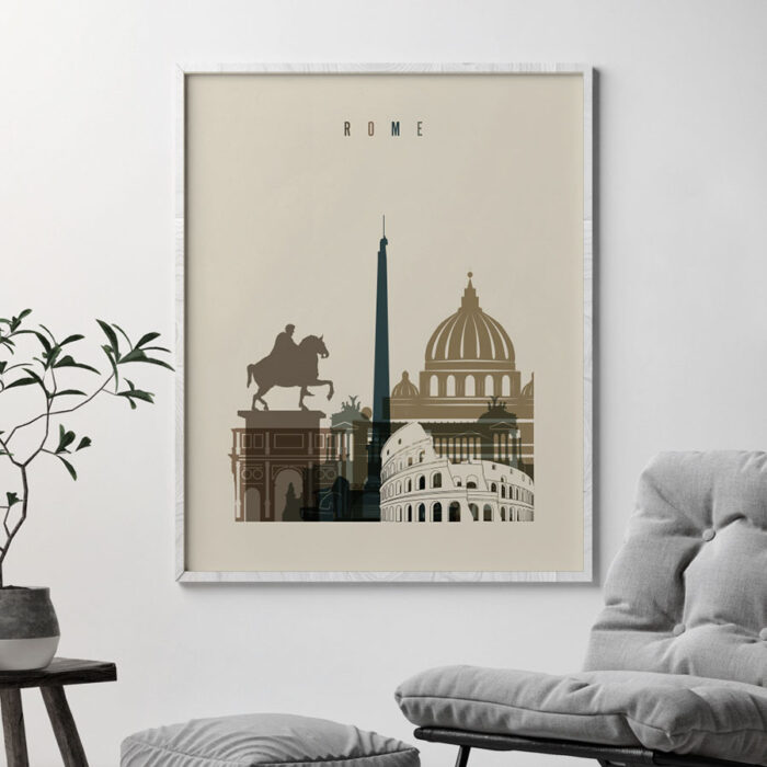 Rome art print earth tones 3 second