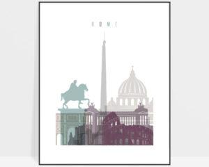 Rome print skyline pastel 2