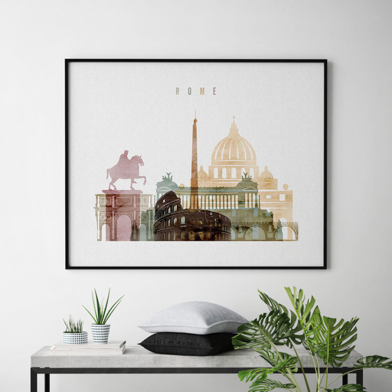Rome poster watercolor 1 landscape second