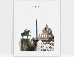 Rome art print watercolor 2
