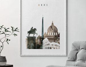Rome art print watercolor 2 second