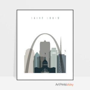 Saint Louis art print skyline earth tones 4