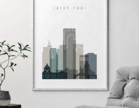 Saint Paul art print skyline earth tones 4 second