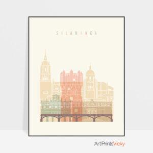 Salamanca art print skyline pastel cream