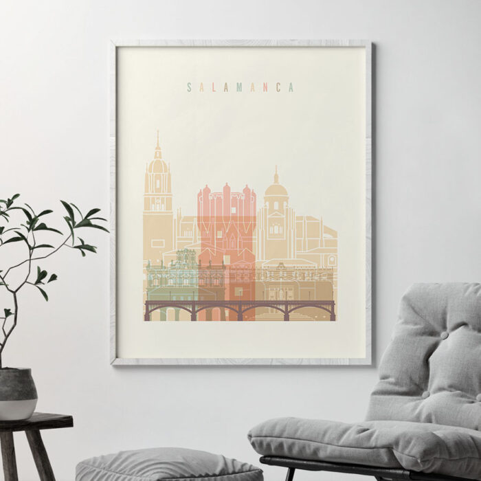 Salamanca art print skyline pastel cream second