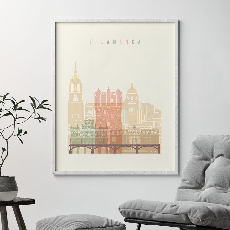 Salamanca art print skyline pastel cream second