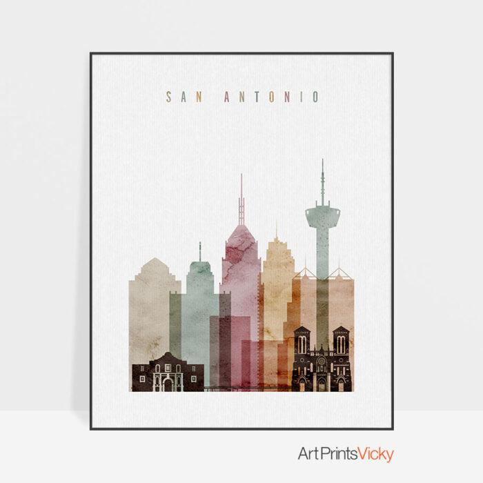 San Antonio art print watercolor 1