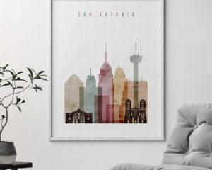 San Antonio art print watercolor 1 second