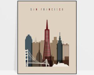 San Francisco poster earth tones 2