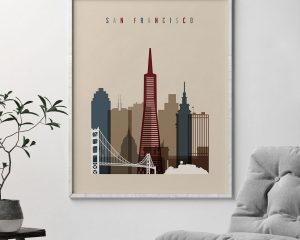 San Francisco poster earth tones 2 second