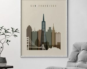 San Francisco art print earth tones 3 second