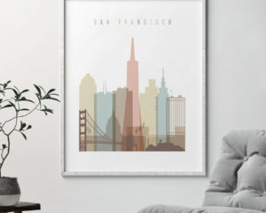San Francisco wall decor pastel white second