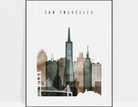 San Francisco art print watercolor 2