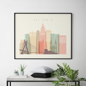 Sao Paulo art print pastel cream landscape second