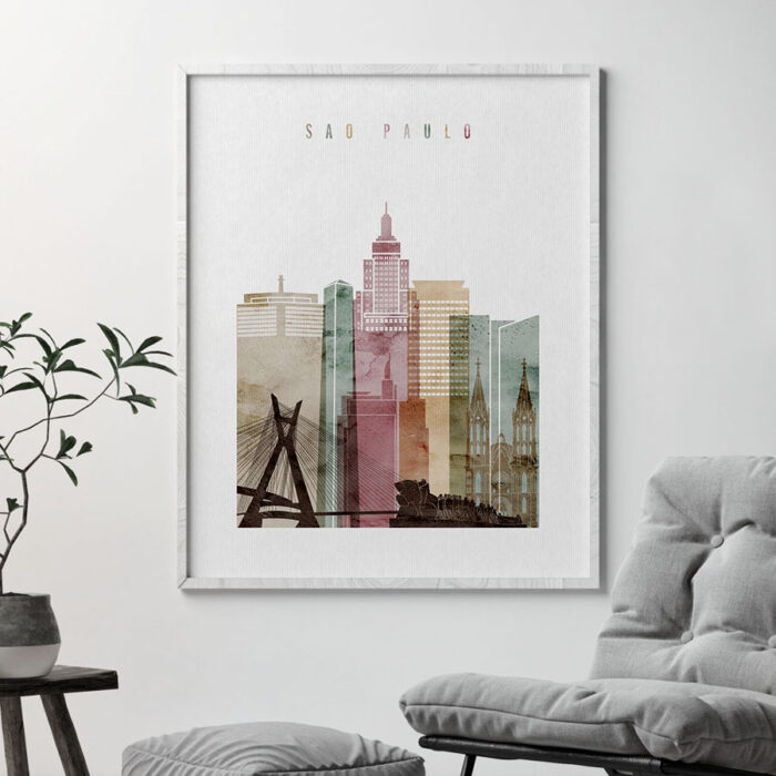 Sao Paulo poster watercolor 1 second
