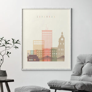 Savannah poster skyline pastel cream second
