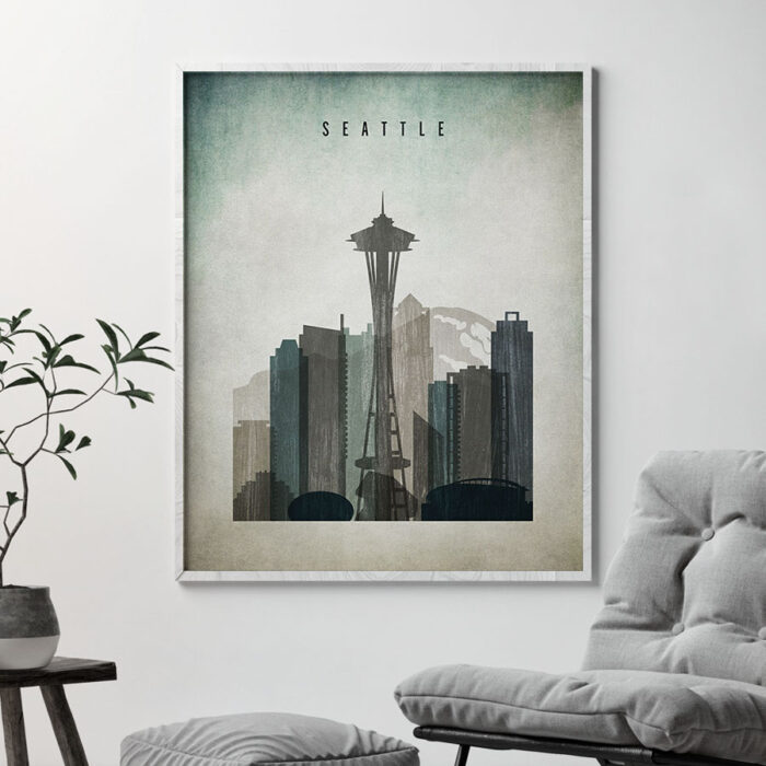 Seattle poster distressed 3 second