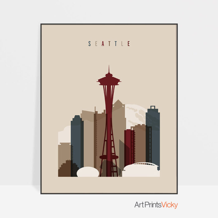 Seattle poster earth tones 2