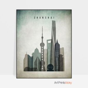 Shanghai poster distressed 3