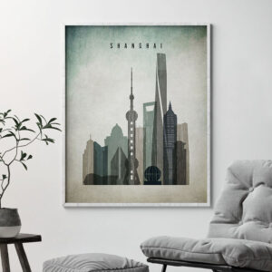 Shanghai poster distressed 3 second photo by ArtPrintsVicky