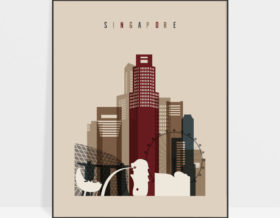 Singapore poster earth tones 2