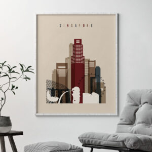Singapore poster earth tones 2 second