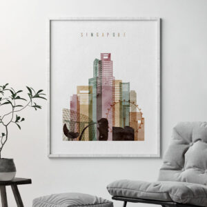 Singapore poster watercolor 1 second