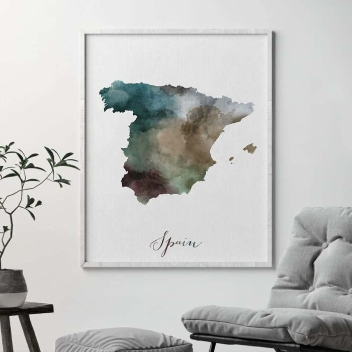 Spain map print second