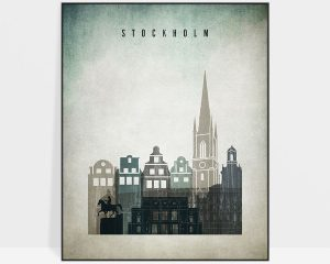 Stockholm poster distressed 3