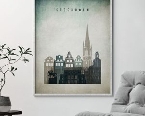 Stockholm poster distressed 3 second