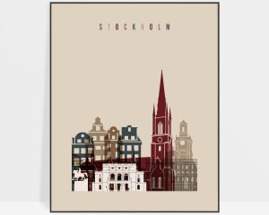 Stockholm poster earth tones 2