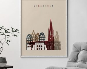 Stockholm poster earth tones 2 second