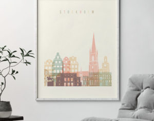Stockholm art print pastel cream second